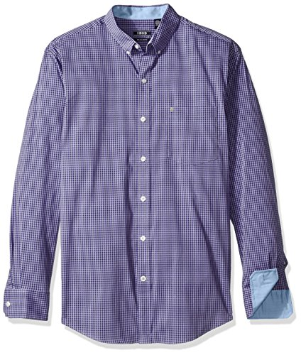 Violet Iron - IZOD Men's Advantage Performance Non Iron Stretch Long Sleeve Shirt, Deep Violet Tulip, Small