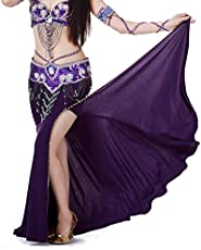 7a581e59704 9 Color Polyester High Level Belly Dance Skirts(No Waist Belt) (Dark Purple)