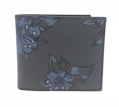 Hawaiian Billfold Wallet Coach Men's Floral Double Midnight Lilly Double Men's Coach q54f0dwX