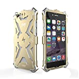 Iphone 6 6s Plus Case, Lwang® Aviation Aluminum Anti-scratch Strong Protection Metal Case for Iphone 6s Plus, Hollow Design Full Signal Iphone 6 6s Plus Thor Case (Gold)