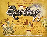 Exotica 8.0, Anniversary Edition, 100% All Natural Hookah Charcoal, 25 Fingers Scored int 3 Pieces (75 Pieces)