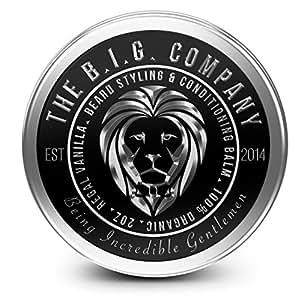 B.I.G. Beard Balm - 100% Organic Premium Beard Balm - Firm