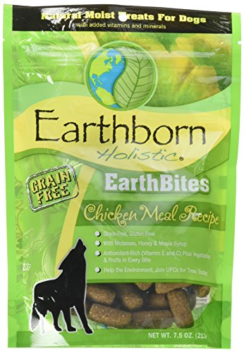 Earthborn Holistic EarthBites Chicken Meal Recipe Grain Free Dog Treats, 7.5 oz.