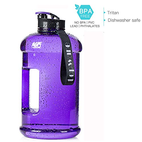 Dishwasher Safe 2.2L 75oz Half Gallon 1.3L 44oz Large New Material Tritan Plastic Sports Hot Cold Water Jug Container Big Capacity Leakproof BPA Free Water Bottle for Fitness Camping Bicycle Gym