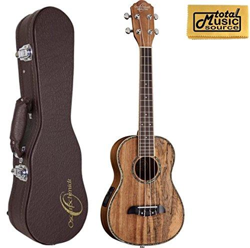 Oscar Schmidt OU11TE Tenor A/E Ukulele, Spalted Mango/Koa Wood, Two Tone, w/O.S. Case & PC - Koa Tone Wood