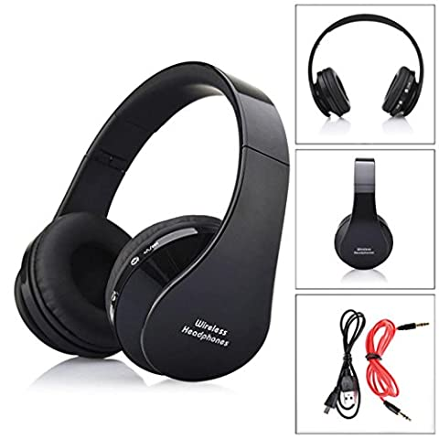 DZT1968 ISSC3.0 Wireless Bluetooth Foldable Headset Stereo Headphone Earphone for iPhone (B) (Bluetooth Optional Headphones)