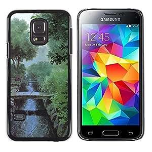 LECELL -- Funda protectora / Cubierta / Piel For Samsung Galaxy S5 Mini, SM-G800, NOT S5 REGULAR! -- Nature Misty Morning --