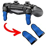 eXtremeRate L2 R2 Buttons Extention Trigger, Soft Touch Grip Extenders, Game Improvement Adjusters for PlayStation 4 PS4 Pro PS4 Slim Controller (1 Pair) (Blue Black) Review