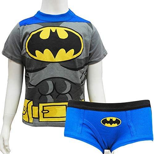 BATMAN バットマン なりきり Tシャツ&ブリーフセット 2/3才 95cm 90cm下着 アンダーウェア 男の子 子供 こども パンツ