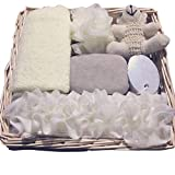CARESHINE Soft Bath Show Spa Set 6Pcs/Set Good Materials Simple Design Bath Shower Kit Include Bath Ball Sponge Belt Towel Pumice Stone