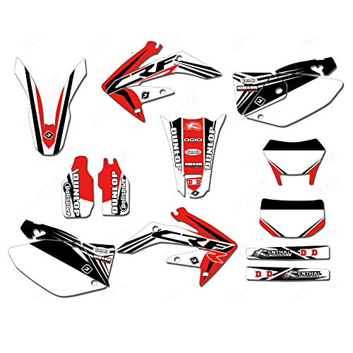 (JL'S HOME Team Decals Graphics Backgrounds Stickers For Honda CRF250X CRF 250X Graphics Kit Full Decals Stickers 2004-2012,Custom Number Plate (Number/Letter/Pattern/Logo))