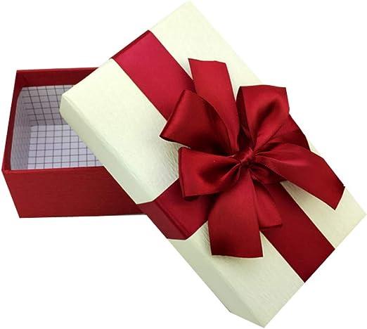 Phononey 1x Caja de regalo rectangular con lazos Embalaje de ...