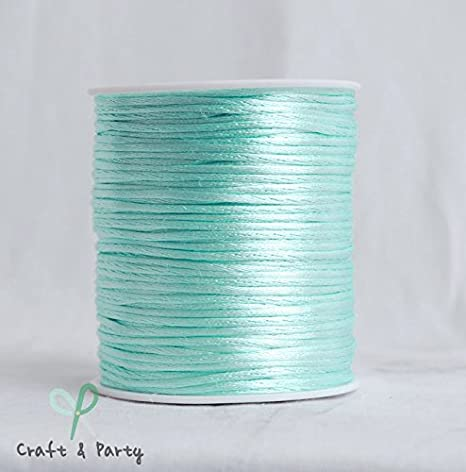 Craft and Party White 2mm x 100 yards Rattail Satin Nylon Trim Cord Chinese Knot