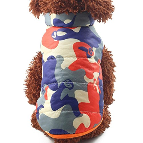 [Mikey Store Pet Supplies Clothes Winter Clothing Puppy Costume Dog Cat Coat Jacket (Orange, XS)] (Zebra Cat Costume)