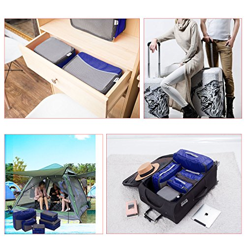 5 Set Travel Luggage Organizer-Double Sided Carryon Lightweight Packing Cubes by Ufine (Image #5)