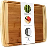 "Indigo True Extra Large Bamboo Cutting Board with Deep Juice Groove 17.5"" x 13.5"" x 0.75''"