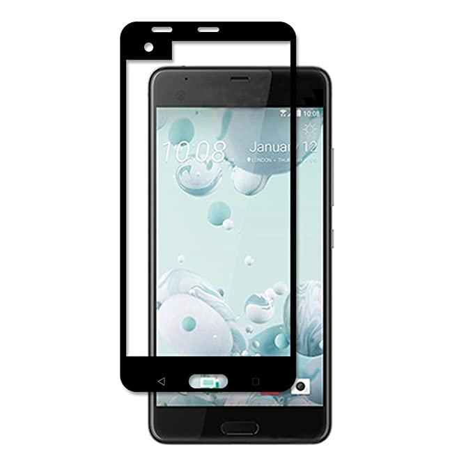 GADGETS WRAP HTC U Ultra Black Color Tempered Glass Full Glass Curve Screen Protector Mobile Accessories