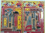 Little Treasures Kids Tool Set Toy 2-in-1 Fixer Man Tools for Children's Realistic Pretend Play Game of Fixing Fun