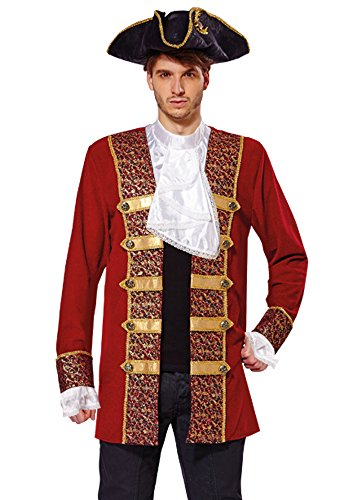 Bristol Novelty AF009 Pirate Coat, Red, 42 - 44-IncH ()