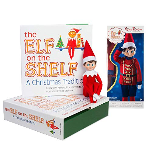 The Elf on the Shelf: A Christmas Tradition Boy Scout Elf (Blue Eyed) with Claus Couture Collection Sugar Plum Soldier Outfit