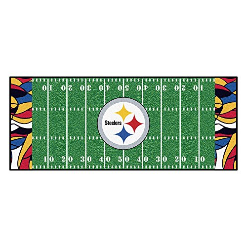 Field Pittsburgh Steelers Football Rug - FANMATS NFL Pittsburgh Steelers NFL-Pittsburgh Steelersfootball Field Runner, Team Color, One Size