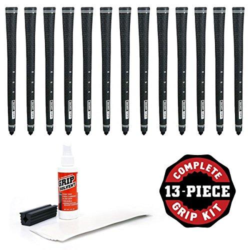 Boccieri Golf Secret Grip Kit with Tape, Solvent and Vise Clamp (13-Piece), Black by Boccieri