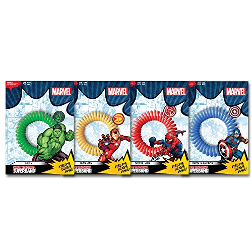 Superband Marvel Avenger Insect Repelling Wristbands with Awesome Superhero Charms! (12)