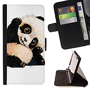 For LG G2 D800 Cute Baby Panda Bear Kids Children'S Style PU Leather Case Wallet Flip Stand Flap Closure Cover