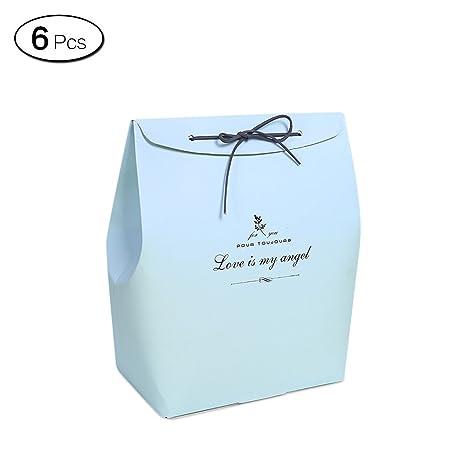 Amazon.com: Jia Hu 6pcs Macaron color bolsas de regalo de ...
