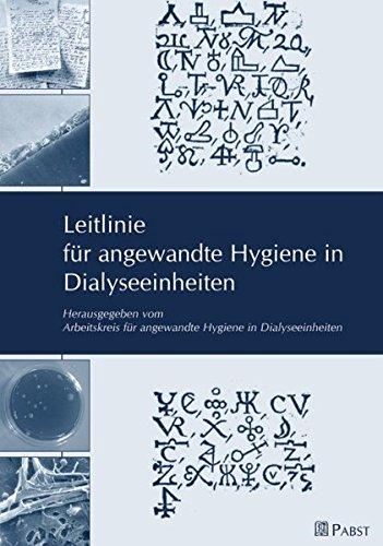 Leitlinie für angewandte Hygiene in Dialyseeinheiten