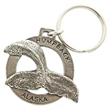 Creative Pewter Designs, Pewter Alaska Humpback Tail Key Chain, Antiqued Finish, A630KC
