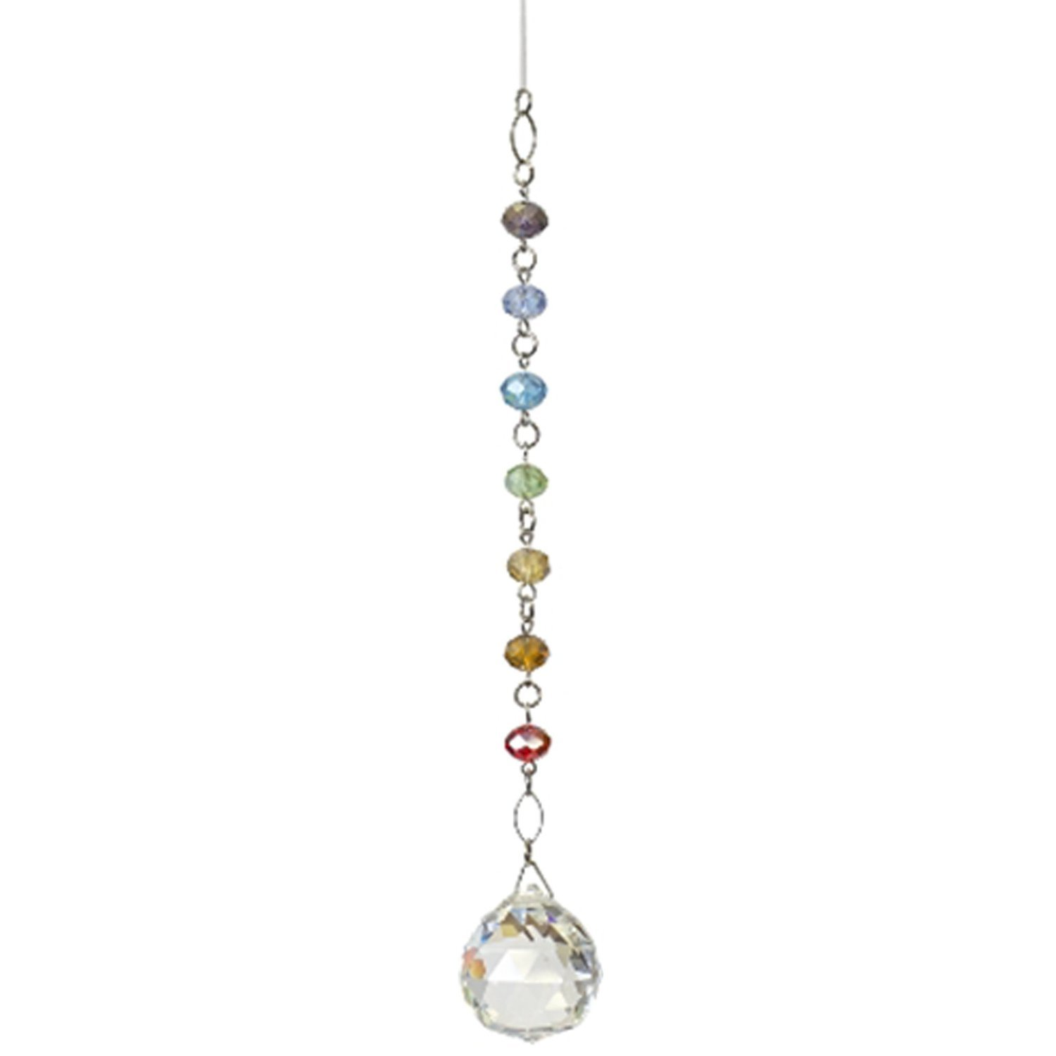 Chakra Chain Suncatcher - Rainbow Maker - Hanging Crystal Suncatcher Ornament - Home, Living Room, Bedroom, Kitchen, Outdoor Décor, Car Decoration - Porch Decor - Sun Catcher - Hangings Crystal Mobile