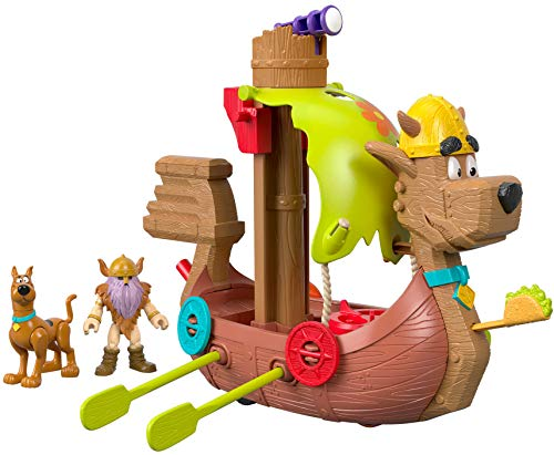 Imaginext Fisher-Price Scooby-Doo Viking Ship, Multi - Characters Doo Scooby