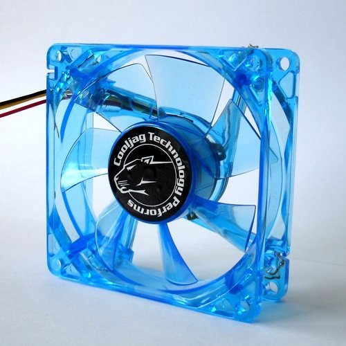 Cooljag Blue 120mm x 25mm UV LED Fan ()