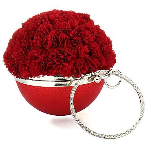 Mano Talla Única Mujer Para Cartera Rojo De Beuway zx8Uaw