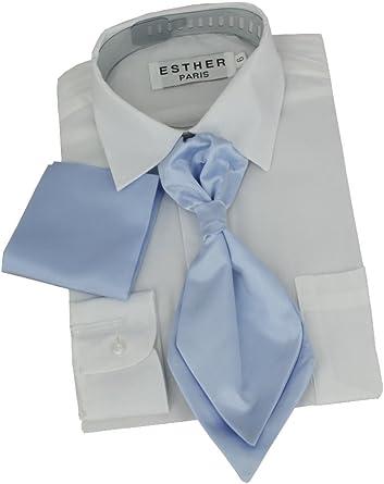 Boutique-Magique - Corbata chalina infantil (incluye funda) azul celeste Talla única: Amazon.es: Ropa y accesorios