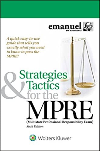 Amazon com: Strategies & Tactics for the MPRE: (Multistate
