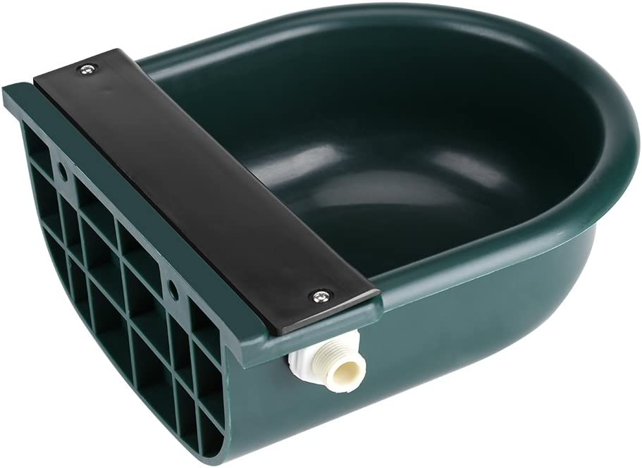 TOPINCN Large Automatic Stock Waterer,4L Pet Waterer Float Valve Water Trough Livestock Drinking Bowl for Cat Sheep Dog Horse Farm Supplies