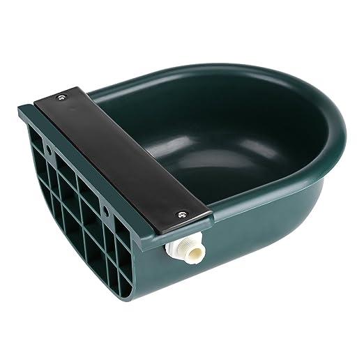 Bebedero Verde de Plástico, 4L Fregadero de Válvula de Flotador Bebedor de Ganado, para Perros pequeños Ganado y Ovejas, Granja: Amazon.es: Productos para ...