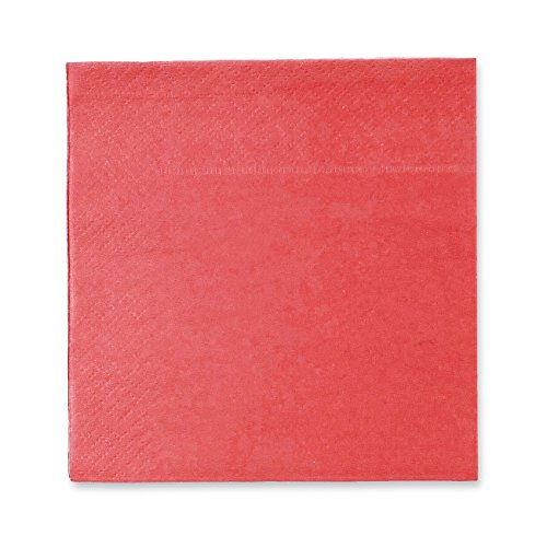 Cocktail Napkins - 200-Pack Disposable Paper Napkins, 2-Ply, Coral Pink, 5 x 5 Inches Folded]()