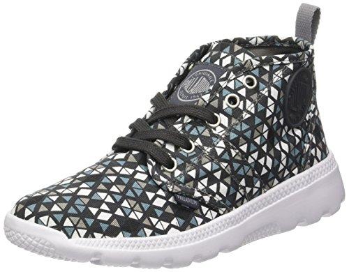 Plvil F pavement Donna Alto Pt Grigio Collo pyramid white Sneaker A Hi Palladium q4CpC