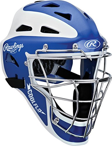 Coolflo Hockey Style Catchers Helmet (Rawlings Two-Tone Translucent Matte Hockey Style Catchers Mask, Royal)