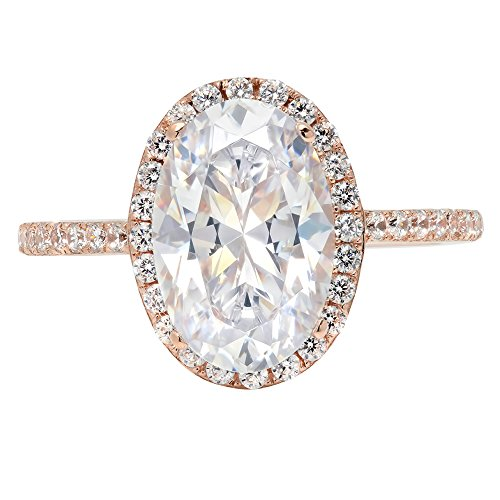 3.48ct Brilliant Oval Cut Halo