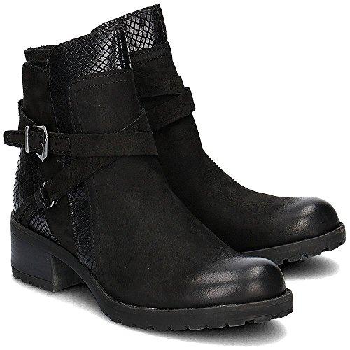 Marco Tozzi22 25470 27 096 - botines de caño bajo Mujer Black Antic Combi