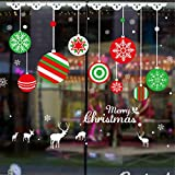 Tools & Hardware : Highpot Christmas Wall Sticker Mural Decals Living Room Bedroom Shop Window Removable Wall Stickers