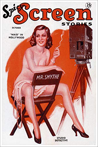 tories Maid in Hollywood Vintage Classic Pinup Girl Retro Cover Art Poster - 11x17 ()