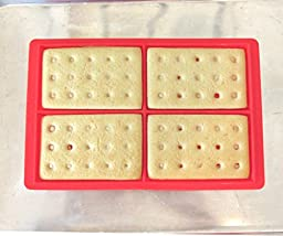 chef habitué- Silicone Waffle Baking Molds Set - Includes 2 Red Waffle Molds with 8 Waffles Cavities, Multi-Color Silicone Wire Whisk and Serving Tongs with Silicone Tips. Kid Friendly Baking Tools.