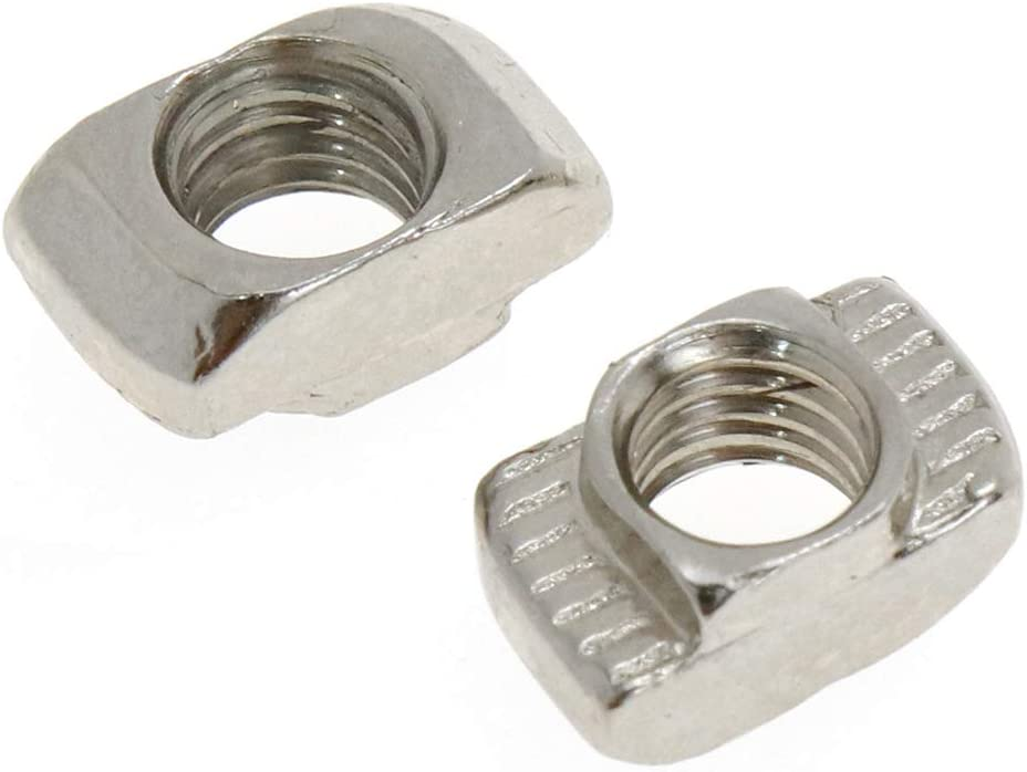 Bitray Sliding T Slot Nuts 4040 Series M4 T Nuts Carbon Steel Nickel Plated Slot Aluminum Extrusion with Profile,50 PCS