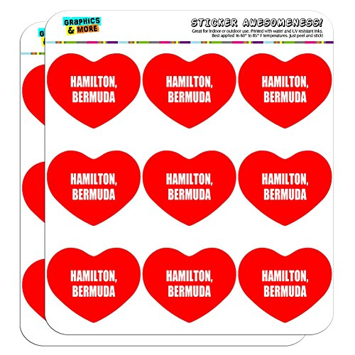 Hamilton Bermuda (Graphics and More I Love Heart Hamilton Bermuda Planner Calendar Scrapbooking Crafting Stickers - 18 2