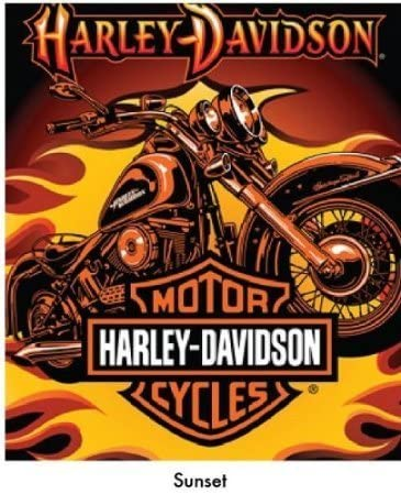 Harley Davidson-Sunset Queen Blanket